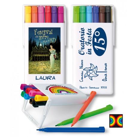 Etui de feutres 12 couleurs Rainbow