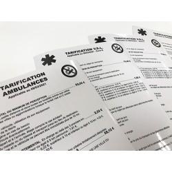 Tarif vynil adhésif Ambulance